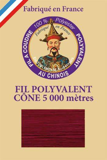 Polyester sewing thread 5000m cone - Col. 703 Burgundy