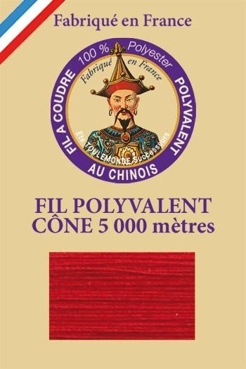 Polyester sewing thread 5000m cone - Col. 530 Cherry