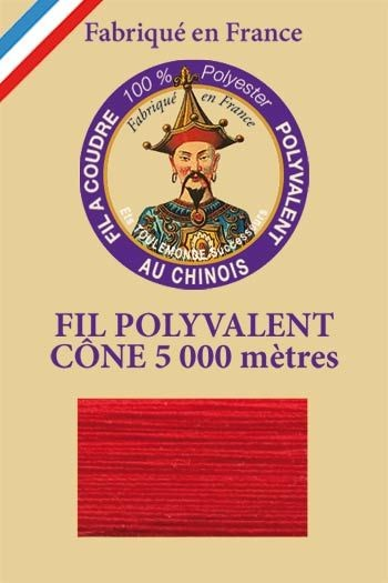 Polyester sewing thread 5000m cone - Col. 510 Strawberry