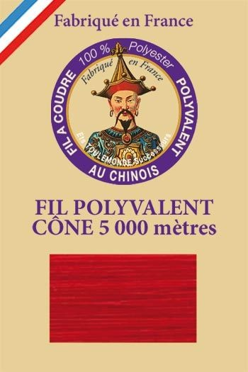 Polyester sewing thread 5000m cone - Col. 370 Red