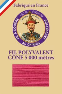 Polyester sewing thread 5000m cone - Col. 7100 Peony