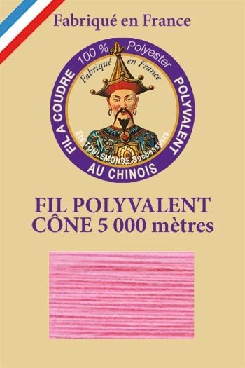 Polyester sewing thread 5000m cone - Col. 550 Rose bay
