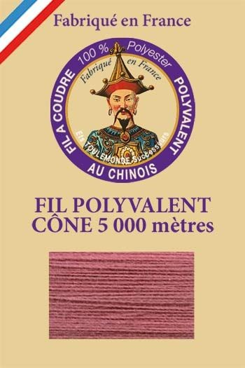 Polyester sewing thread 5000m cone - Col. 600 Old rose