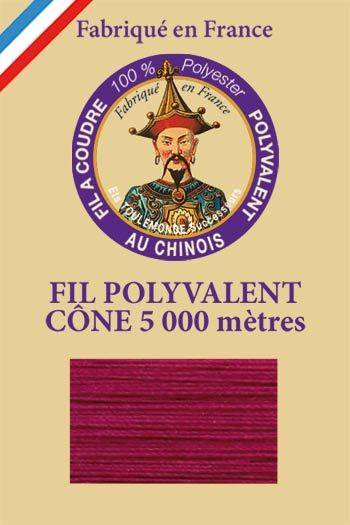 Polyester sewing thread 5000m cone - Col. 538 Burgundy