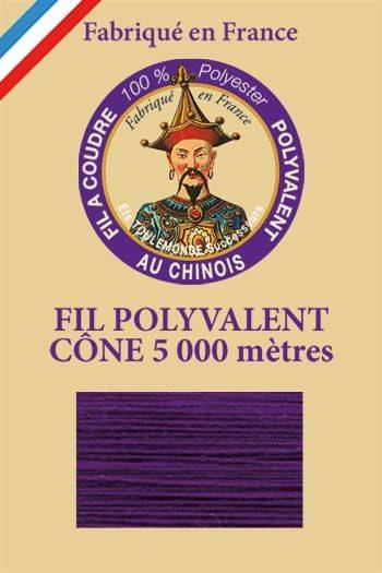 Polyester sewing thread 5000m cone - Col. 630 Violet