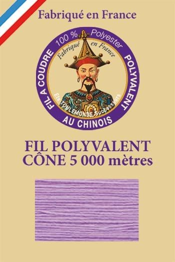 Polyester sewing thread 5000m cone - Col. 515 Lilac