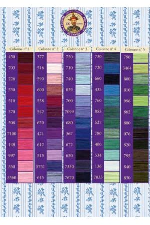 120 Colour Chart For Fil Au Chinois Polyester Sewing Thread