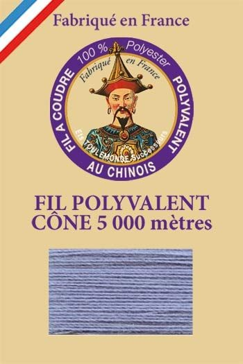 Polyester sewing thread 5000m cone - Col. 615 Grey blue