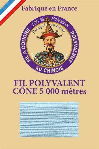 Polyester sewing thread 5000m cone - Col. 740 Azure