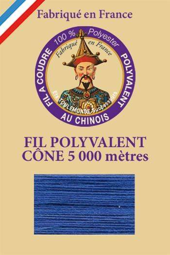 Polyester sewing thread 5000m cone - Col. 680 Gauloise blue