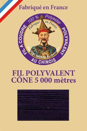 Polyester sewing thread 5000m cone - Col. 650 Navy blue