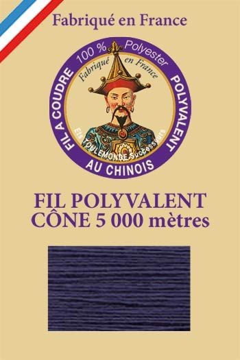 Polyester sewing thread 5000m cone - Col. 7330 Blue silk