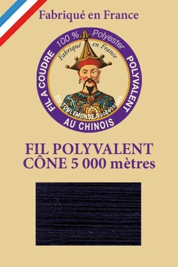 Polyester sewing thread 5000m cone - Col. 660 Night blue