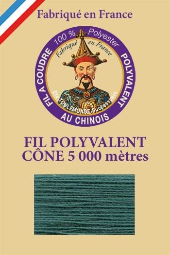 Polyester sewing thread 5000m cone - Col. 855 Emerald