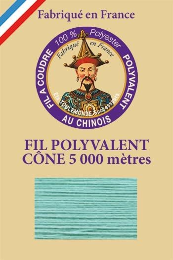 Polyester sewing thread 5000m cone - Col. 534 Aqua