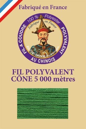 Polyester sewing thread 5000m cone - Col. 810 Lawn