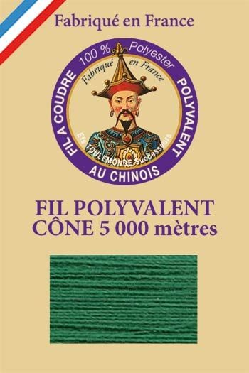 Polyester sewing thread 5000m cone - Col. 862 Vert