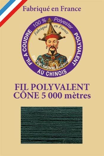 Polyester sewing thread 5000m cone - Col. 880 Leaf green