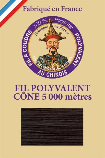 Polyester sewing thread 5000m cone - Col. 076 Bottle