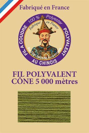 Polyester sewing thread 5000m cone - Col. 843 Fern