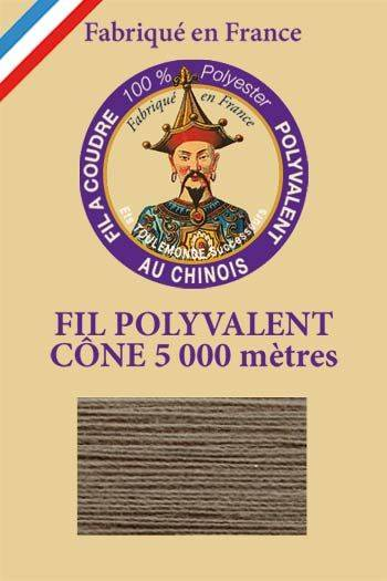 Polyester sewing thread 5000m cone - Col. 907 Steel