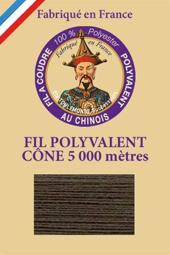 Polyester sewing thread 5000m cone - Col. 908 Cast iron