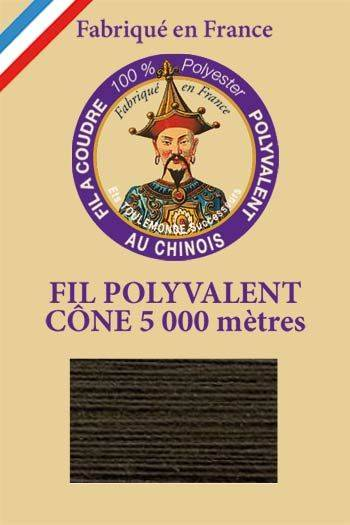 Polyester sewing thread 5000m cone - Col. 910 Anthracite