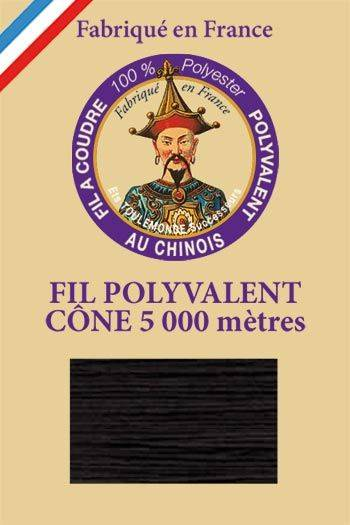 Polyester sewing thread 5000m cone - Col. 180 Black