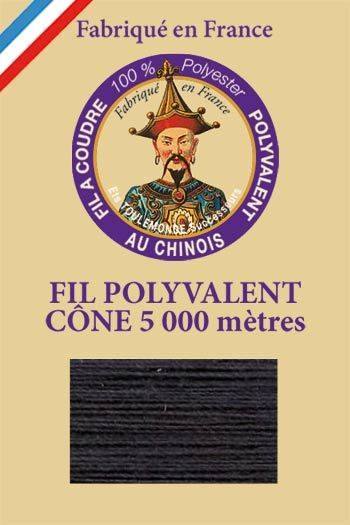 Polyester sewing thread 5000m cone - Col. 150 Coal