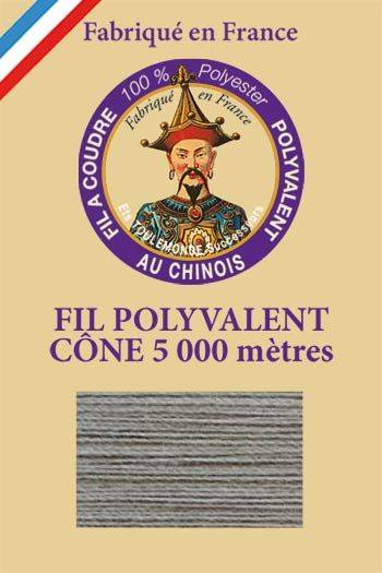 Polyester sewing thread 5000m cone - Col. 120 Ash