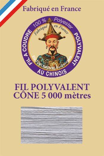 Polyester sewing thread 5000m cone - Col. 414 Grey