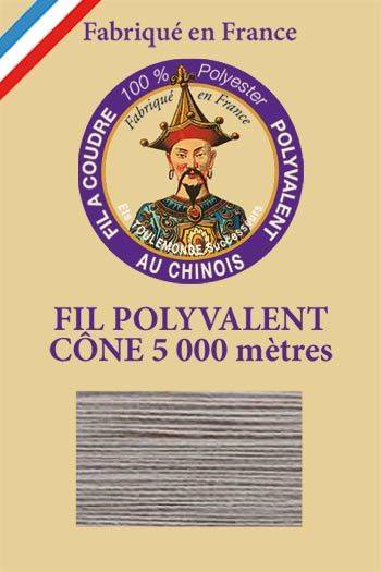 Polyester sewing thread 5000m cone - Col. 513 Pearl