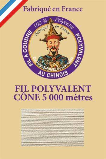 Polyester sewing thread 5000m cone - Col. 313 Cloud