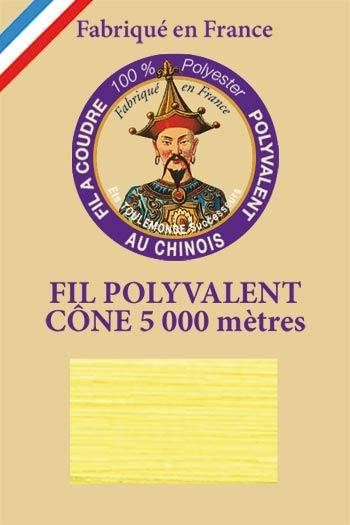 Polyester sewing thread 5000m cone - Col. 5330 Sulphur