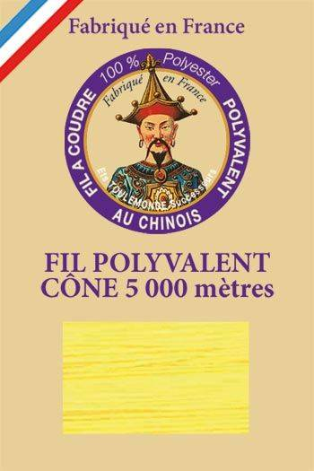 Polyester sewing thread 5000m cone - Col. 7590 Yellow