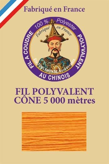 Polyester sewing thread 5000m cone - Col. 728 Marigold
