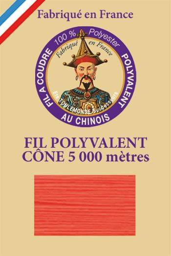Polyester sewing thread 5000m cone - Col. 993 Neon red
