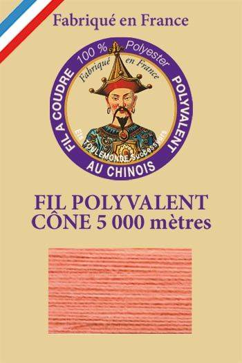 Polyester sewing thread 5000m cone - Col. 580 Coral