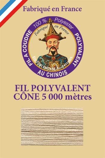 Polyester sewing thread 5000m cone - Col. 308 Sand