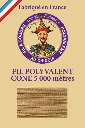 Polyester sewing thread 5000m cone - Col. 596 Biscuit