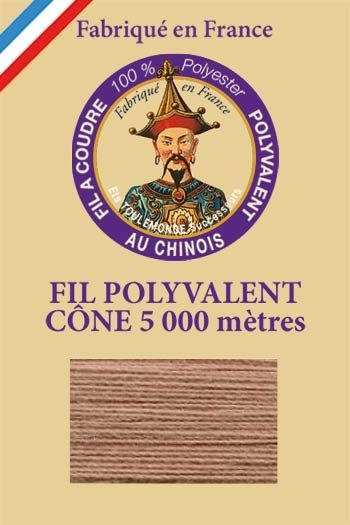 Polyester sewing thread 5000m cone - Col. 255 Oatmetal