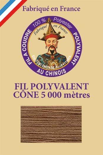Polyester sewing thread 5000m cone - Col. 240 Café au lait