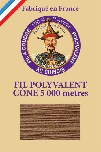 Polyester sewing thread 5000m cone - Col. 240 Café au lait