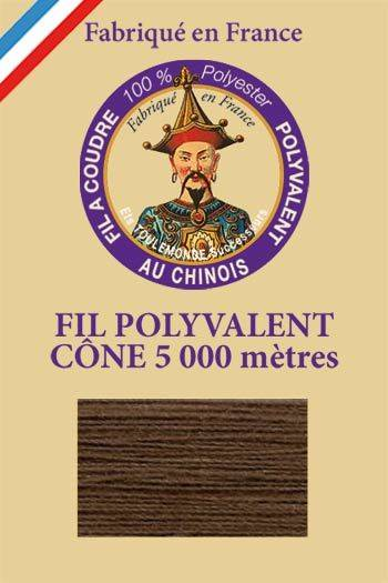 Polyester sewing thread 5000m cone - Col. 210 Dark brown