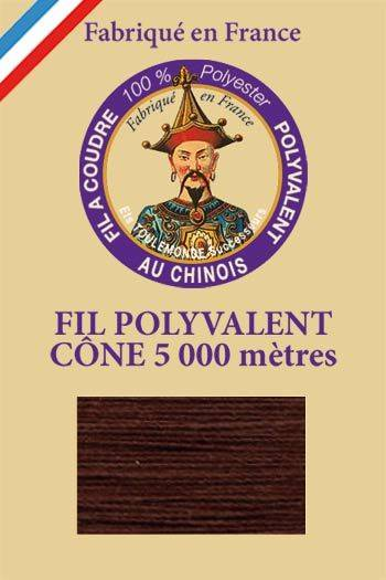 Polyester sewing thread 5000m cone - Col. 7010 Brown