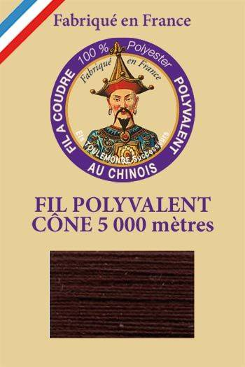 Polyester sewing thread 5000m cone - Col. 480 Coffee