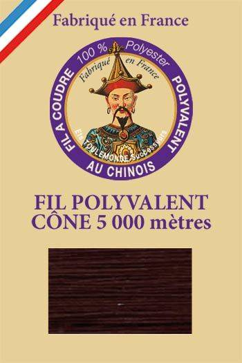 Polyester sewing thread 5000m cone - Col. 698 Chocolate