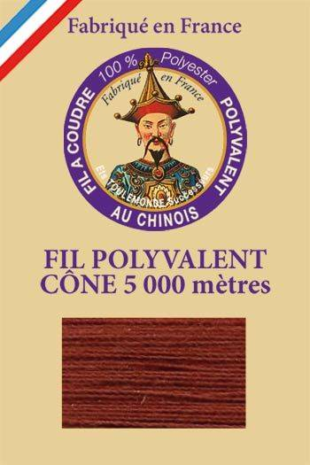 Polyester sewing thread 5000m cone - Col. 460 Auburn