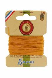 Waxed cable linen size 832 10m card - Colour 508 - Yellow