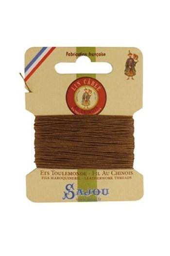 Fil de lin câblé glacé Fil Au Chinois n°832 Carte 10 m - coloris 185 Beige